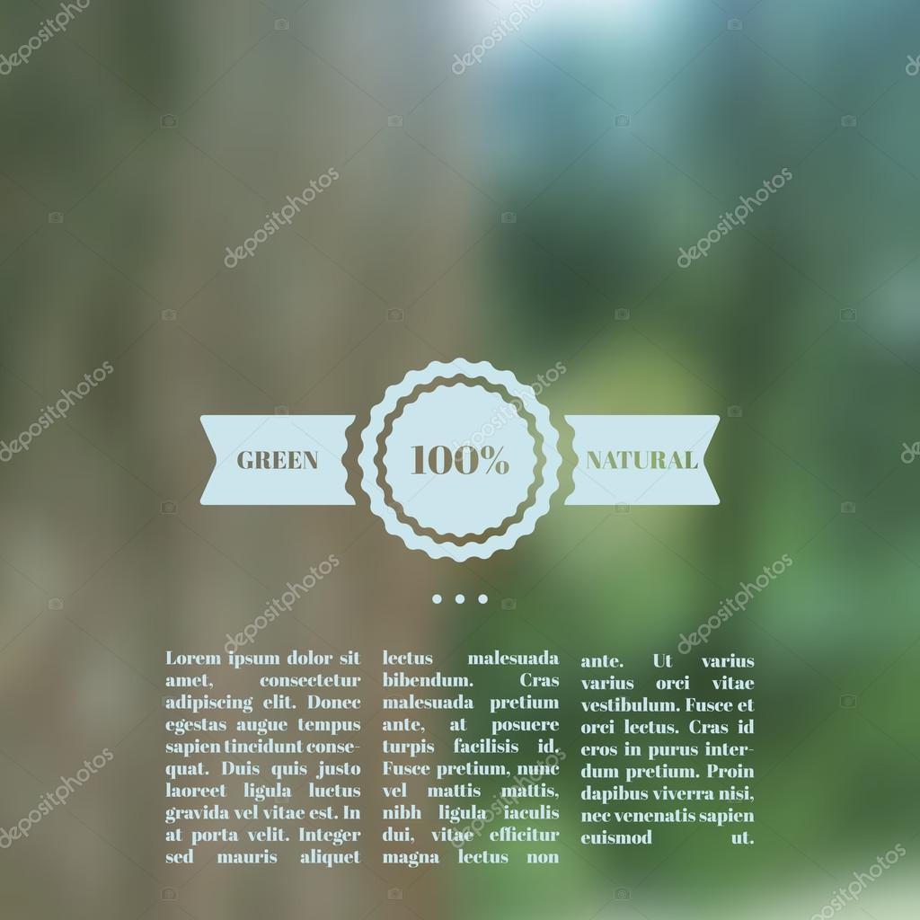 Vector blurred landscape, eco design