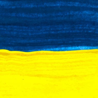 Painted watercolor Ukraine flag. Stylish watercolor background.
