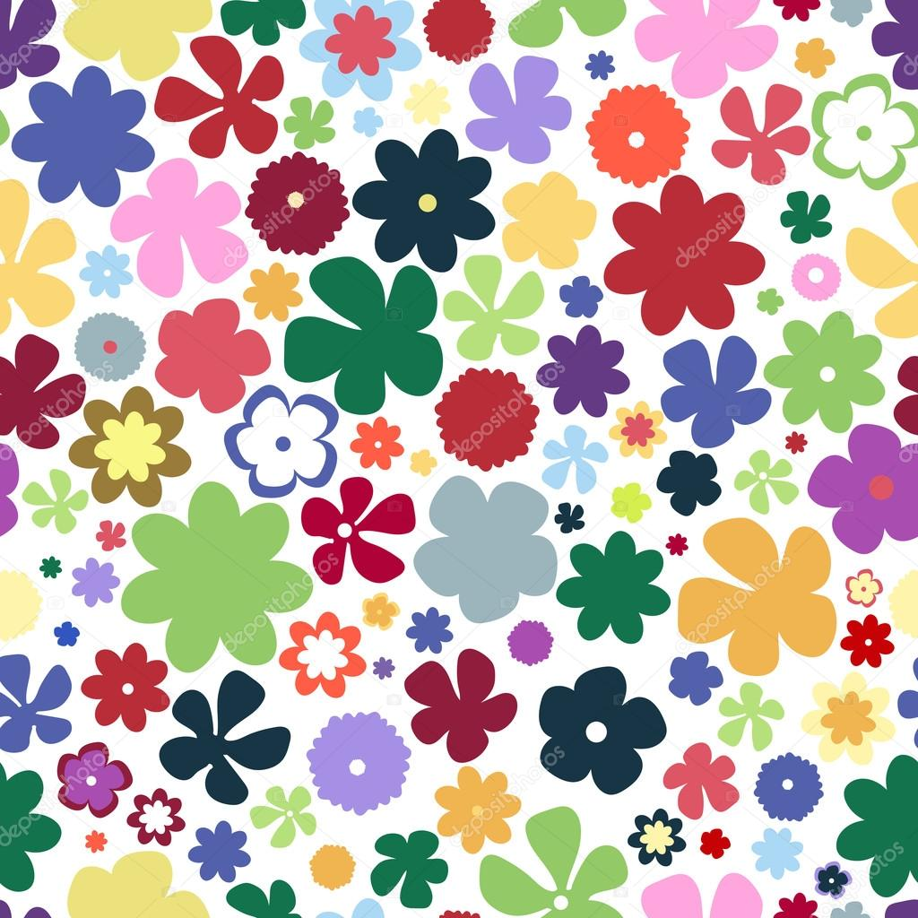 Simple And Beauty Flower Seamless Pattern Multicolor Vector