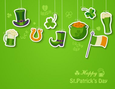 Happy St Patricks day greeting card.