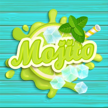 Mojito label splash