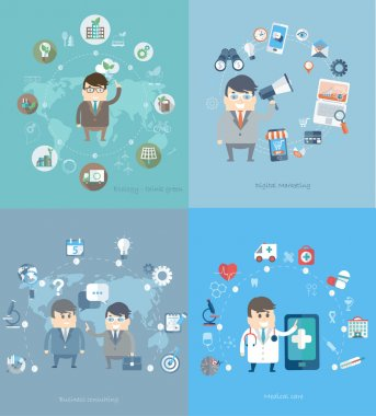 Business ,Eco and medical concept