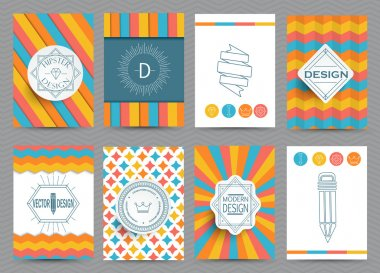 Set of brochures in vintage style