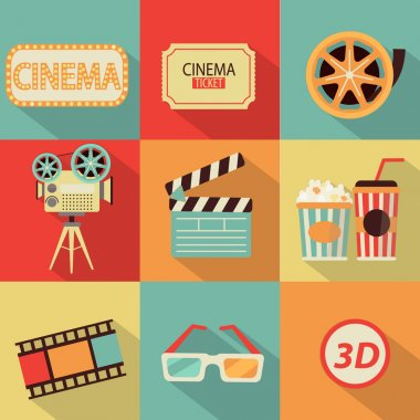Set of movie design elements