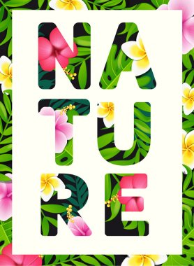 Tropical print slogan Nature