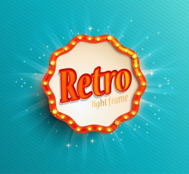 Shining retro light frame
