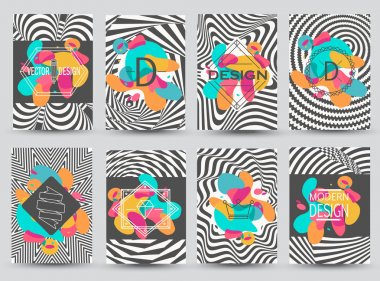 abstract monochrome flyers