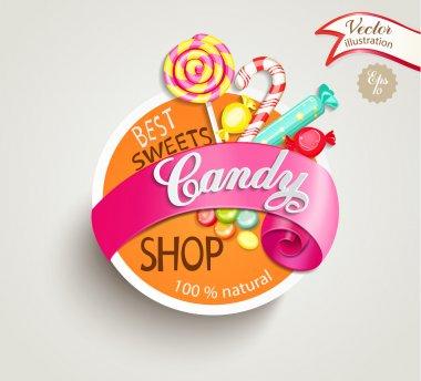 candy shop label