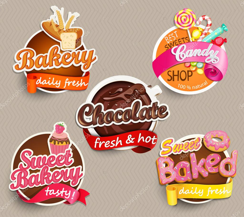 Etiqueta del alimento o plantilla de diseño de etiqueta — Vector de ...
