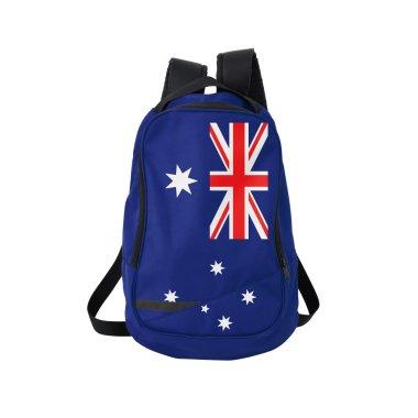 Australian flag backpack isolated on white