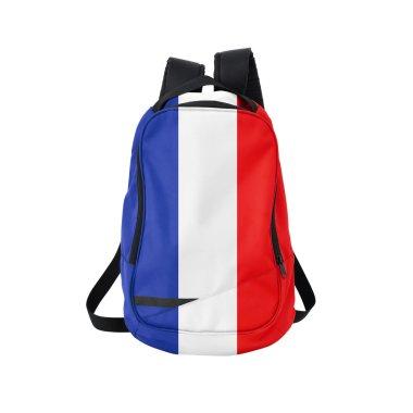 France flag backpack isolated on white