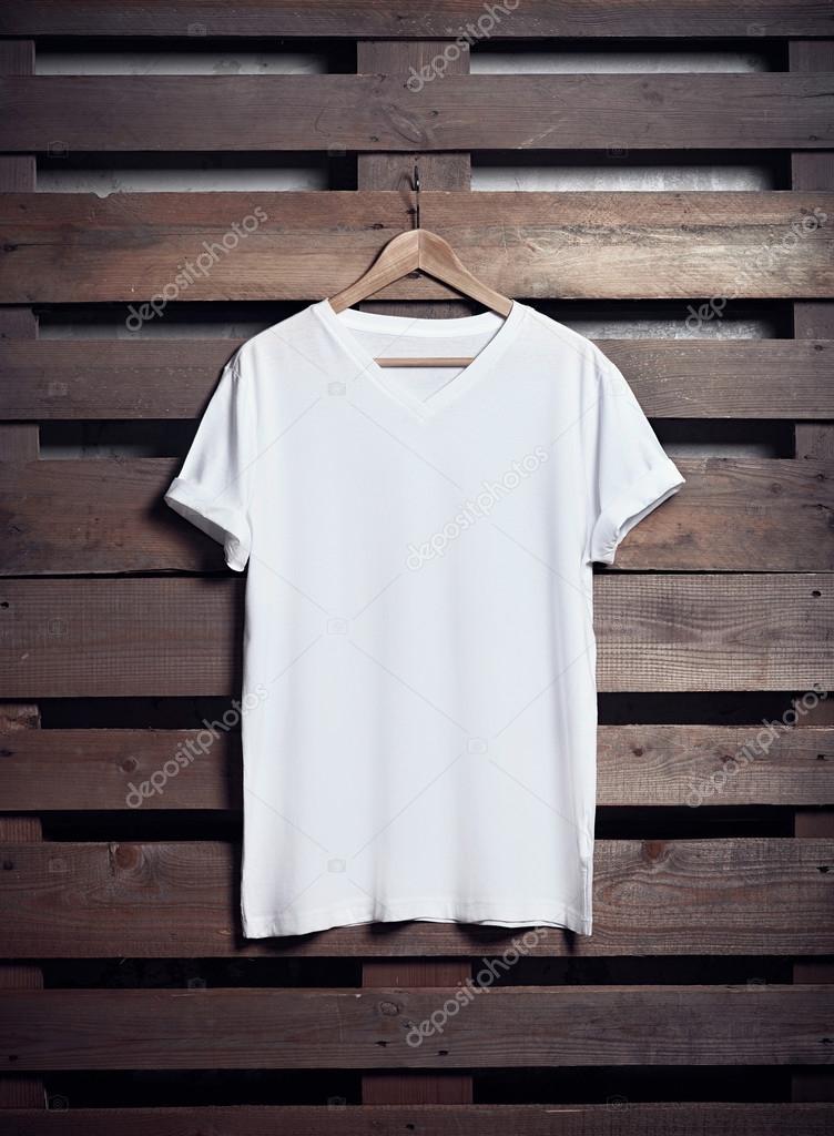 white t shirt hanging