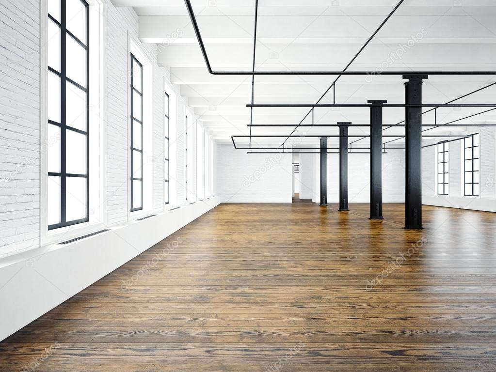Photo Of Empty Interior In Modern Building Open Space Loft