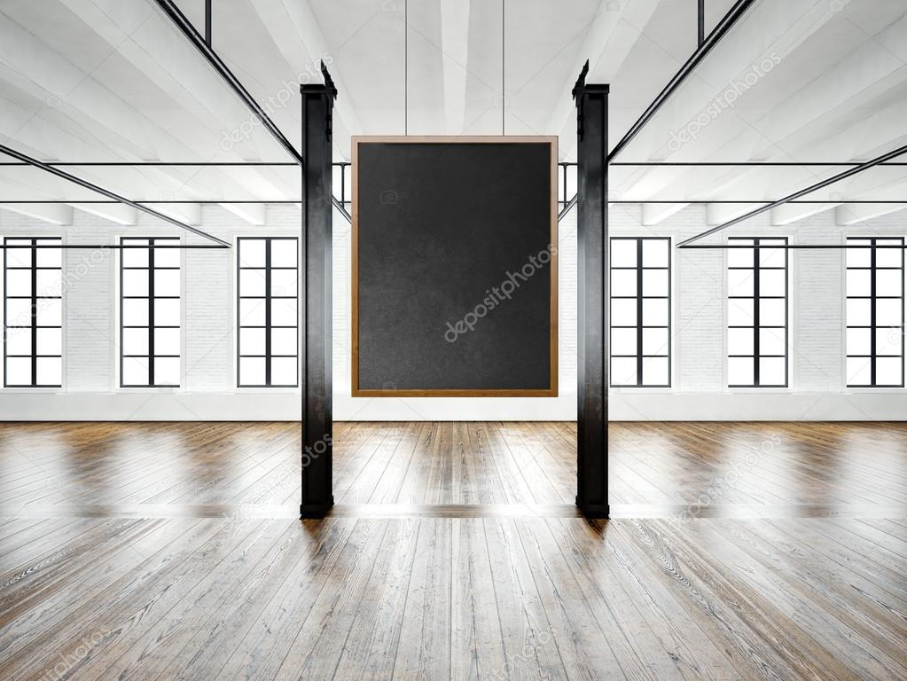 Photo of empty museum interior in modern buildingopen space loft photo of empty museum interior in modern buildingopen space loftempty black canvas sciox Images