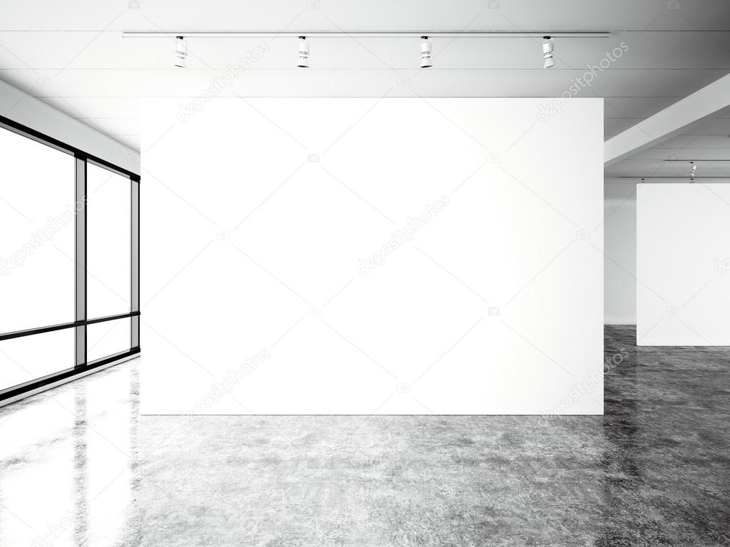 Industrial Floor Plans Picture Exposition Modern Gallery Open Space Blank White