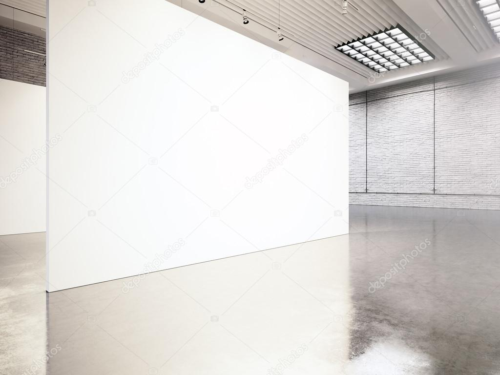 Photo Exposition Modern Galleryopen Space Blank White Empty Canvas Contemporary Industrial Place