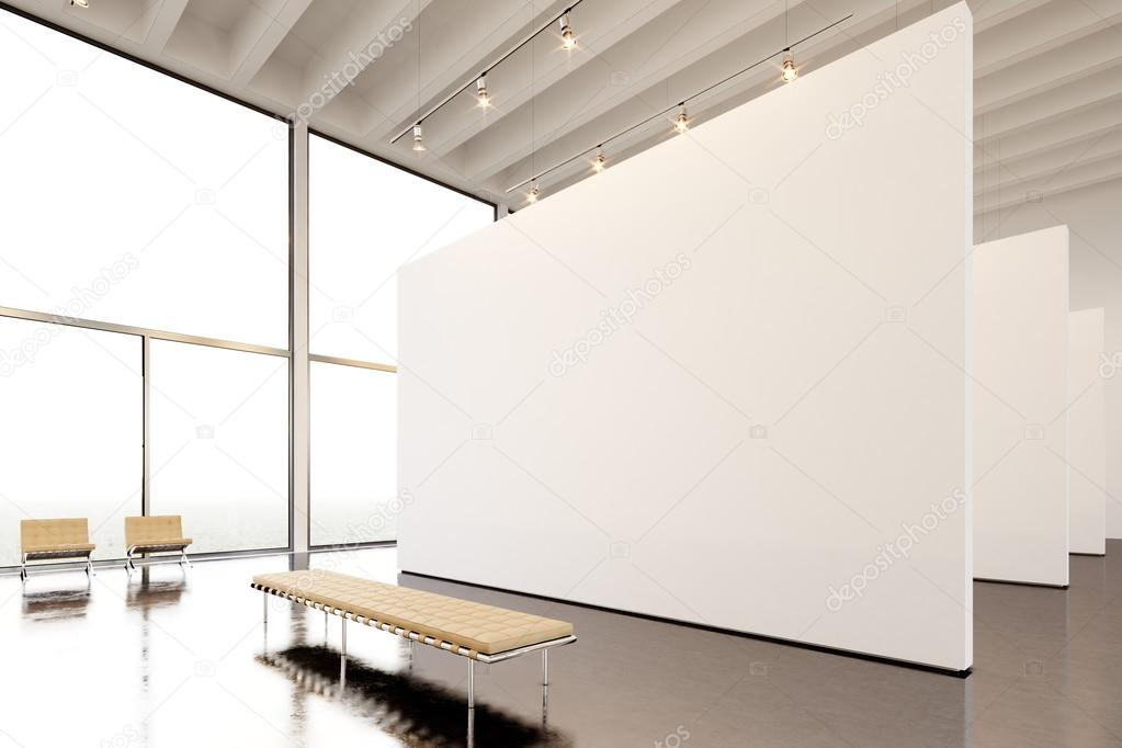 Museum Interior Design Furniture ~ Photo exposition modern gallery open space huge white