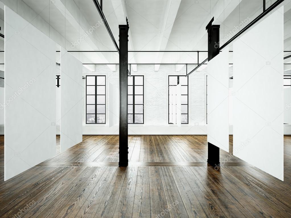 Foto del interior de la expo en edificio moderno. Loft de espacios ...