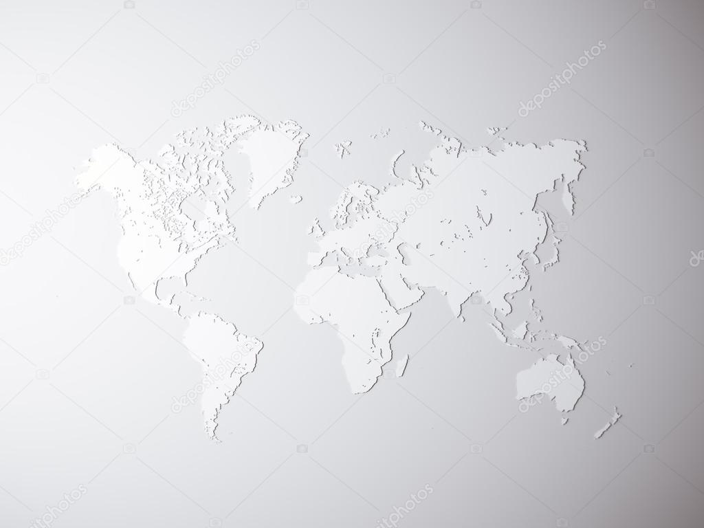 Blank grey political world map 3d rendering empty concrete wall blank grey political world map 3d rendering empty concrete wall background high textured row materials mockup ready for business information gumiabroncs Gallery