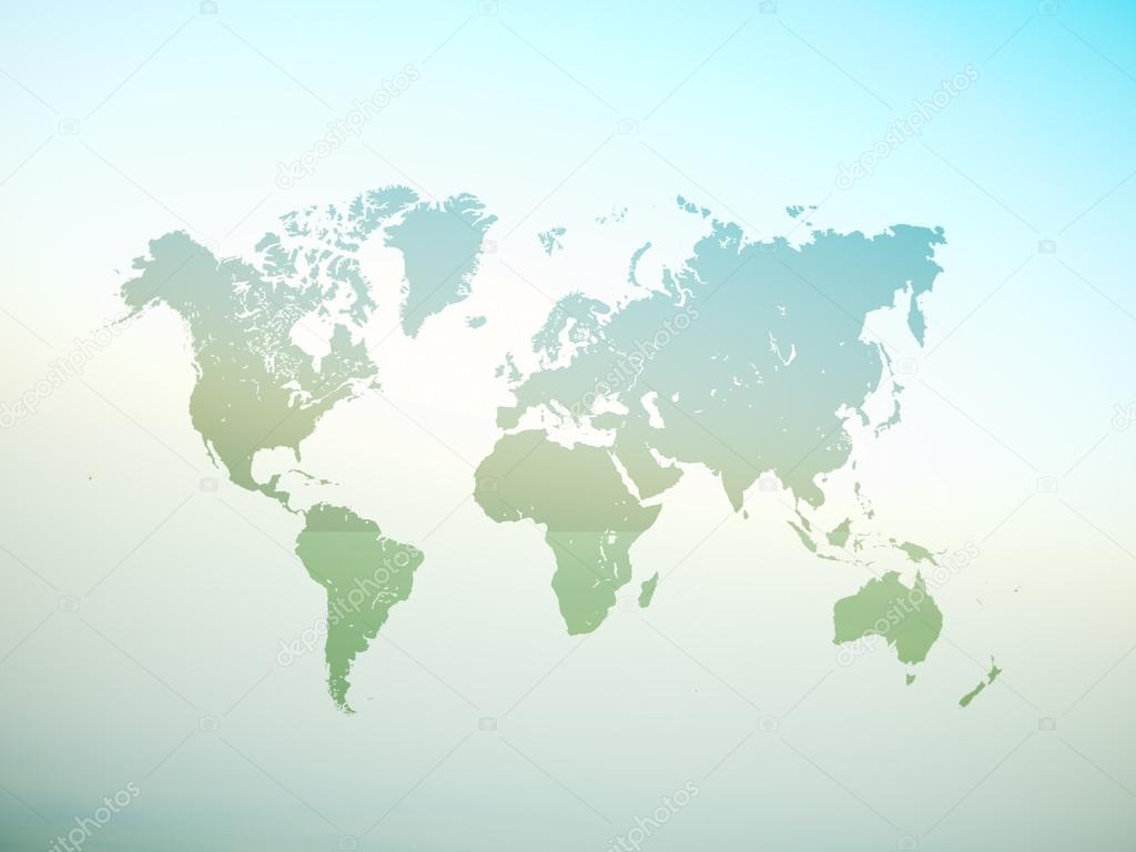 Blank Green Color Texture Political World Map D Rendering Empty - Blank world map green