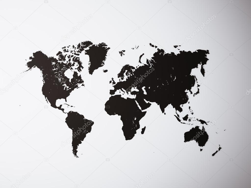 Blank black texture political world map 3d rendering empty blank black texture political world map 3d rendering empty concrete wall background high textured row materials mockup ready for business information gumiabroncs Image collections