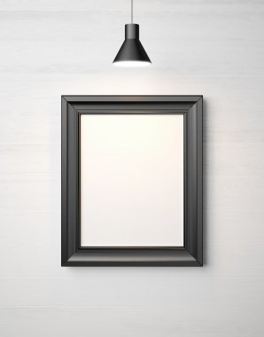 Picture frame and luminaire
