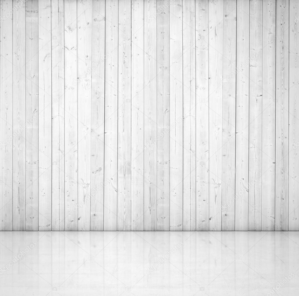 White Wood Wall And Concrete Floor Stock Photo 169 Kantver