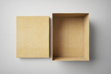 Empty box isolated, with cap