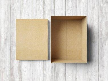 Empty box on the wood