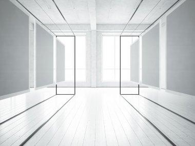 Exposition in  loft