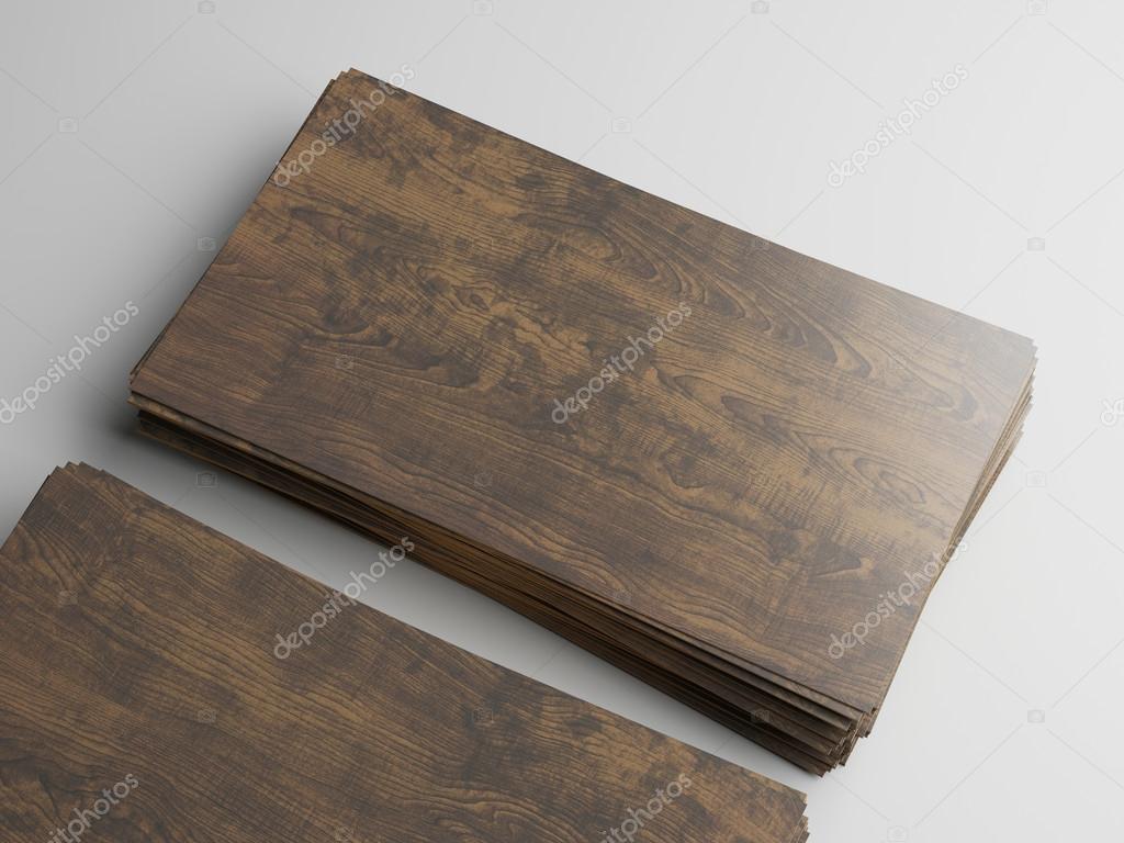 Holz Visitenkarten Stockfoto Kantver 56622355