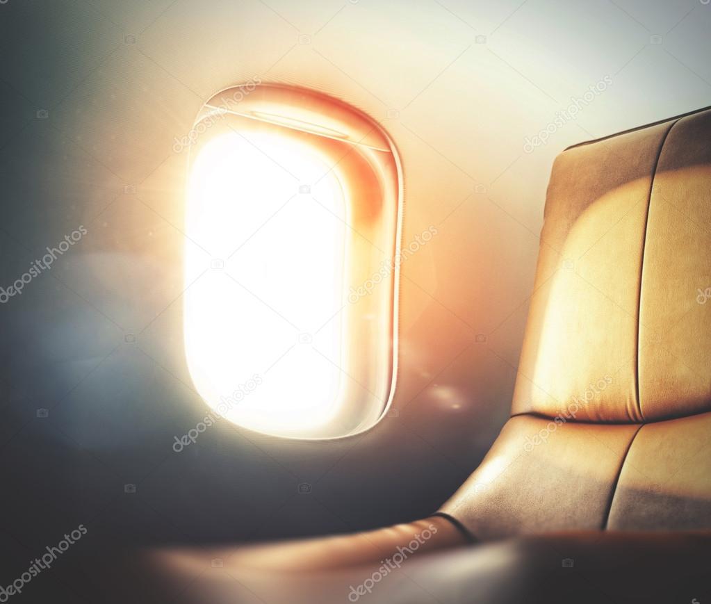 luxury airplane interior