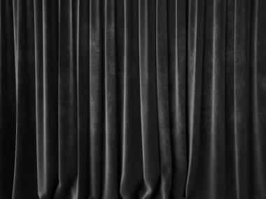 Dark gray curtain
