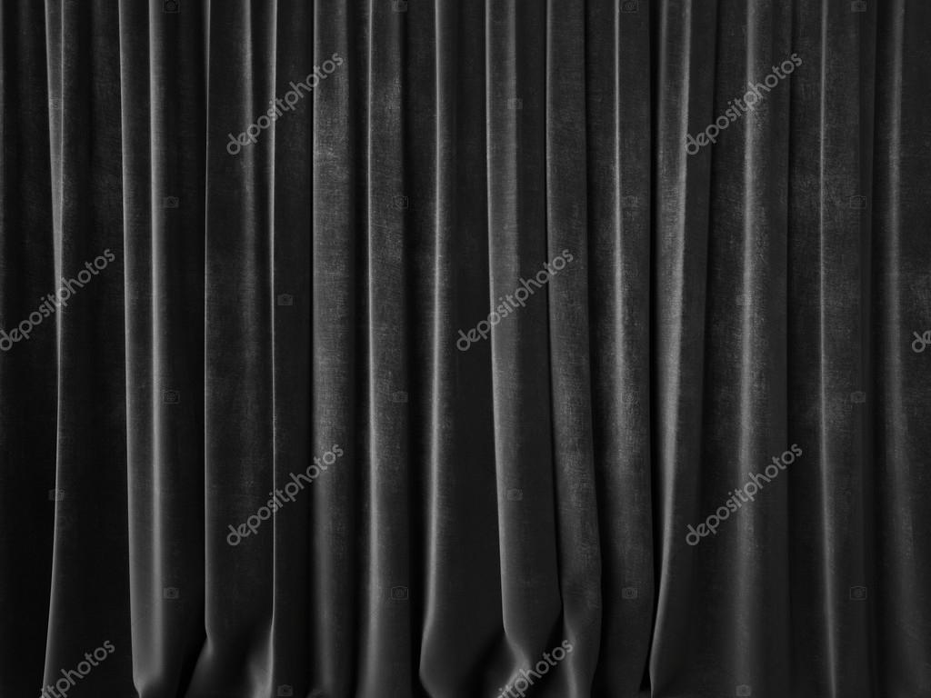 Dark gray curtain — Stock Photo © kantver #59221117 for Black Curtains Texture  177nar
