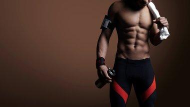 Athletic man body