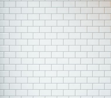 White tiles background