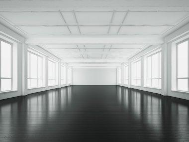 """Картина, постер, плакат, фотообои """"Белого офисного интерьера. 3D визуализация"""", артикул 71873191"""