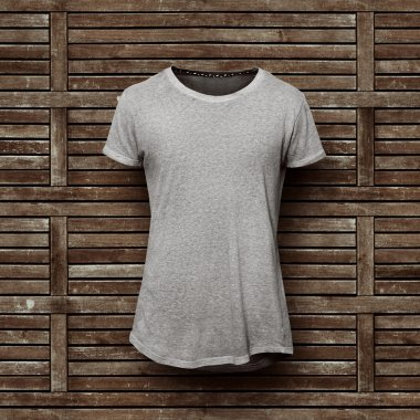 Grey t-shirt isolated