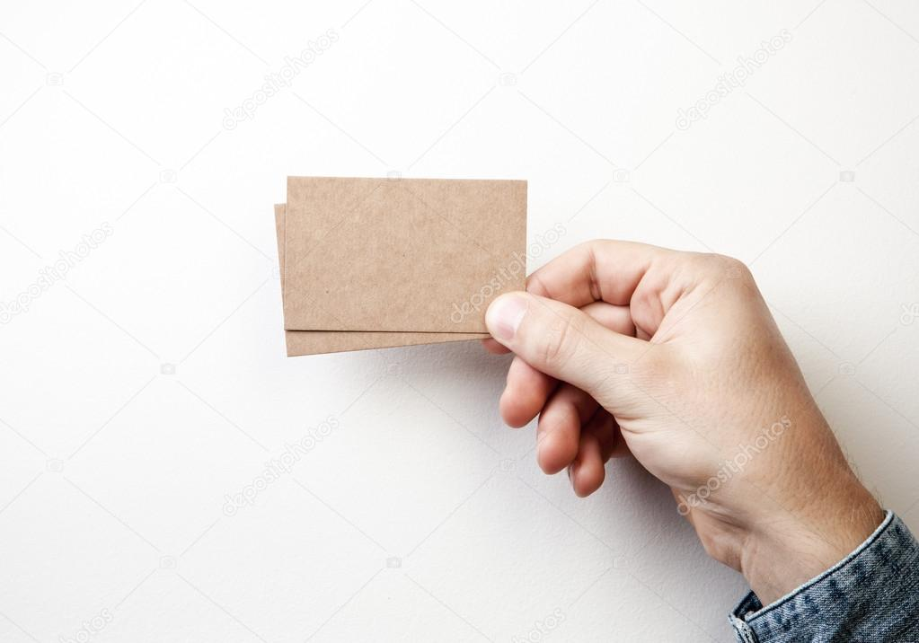 Mockup of two craft business cards — Stock Photo © kantver #80297850