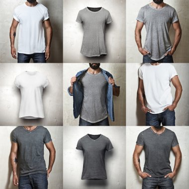 Set of blank t-shirts