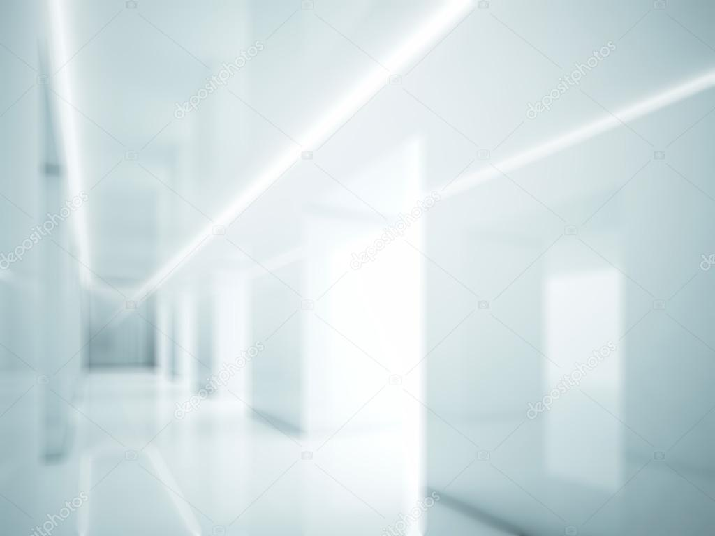 blue white office space. Empty And White Office Interior With Lights Space.Visual Effects \u2014 Photo By Kantver Blue Space B