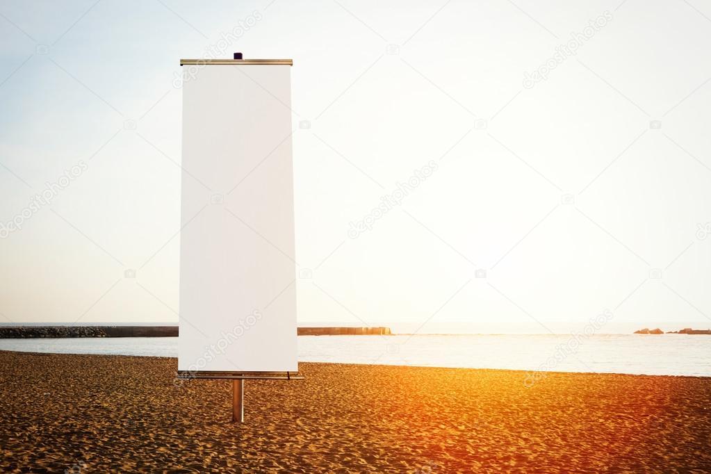 Empty vertical banner
