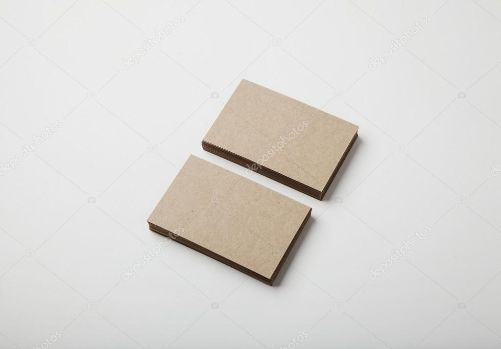 blank craft business cards — Stock Photo © kantver #97925238