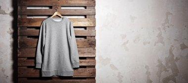 grey hoody  hanging