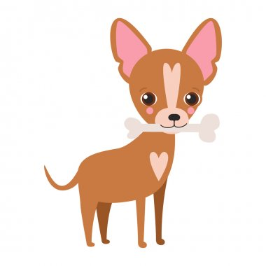 Illustraion of cute dog Chihuahua