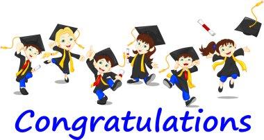 Happy children graduates