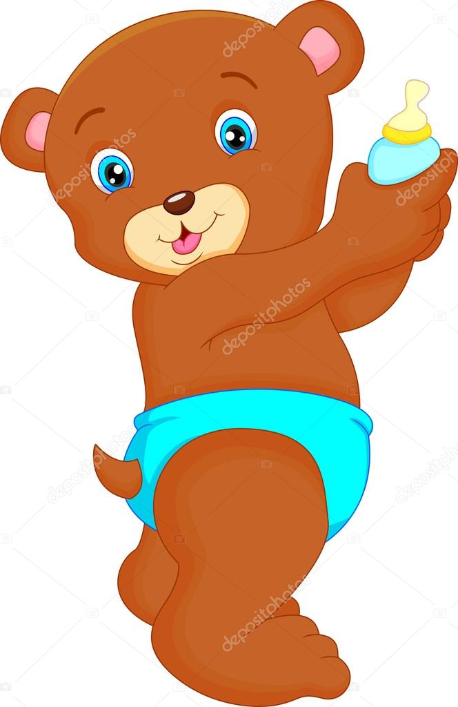 Caricatura lindo bebé oso — vector de stock lawangdesign