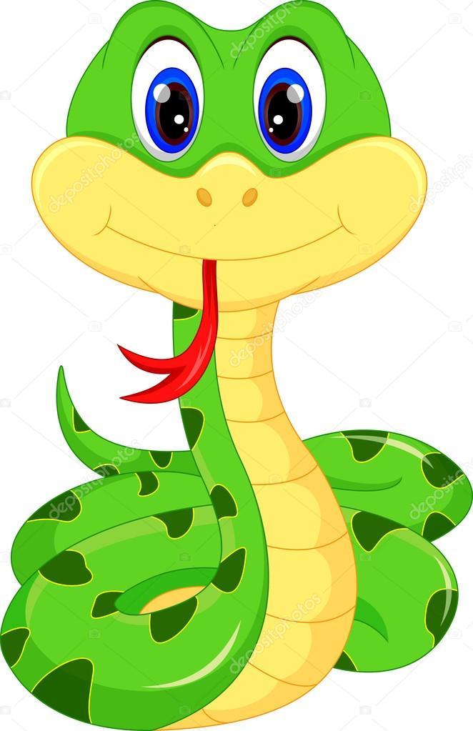 Cartone animato carino serpente — vettoriali stock