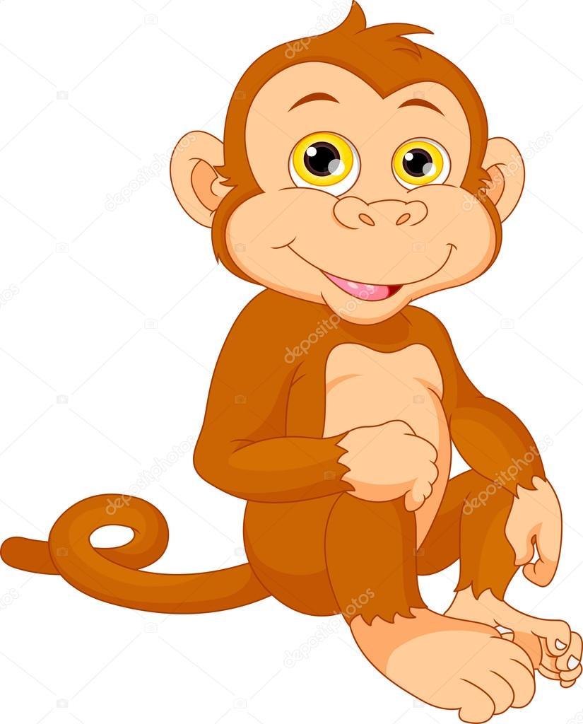 imágenes caricaturas mono caricatura lindo bebé mono vector de