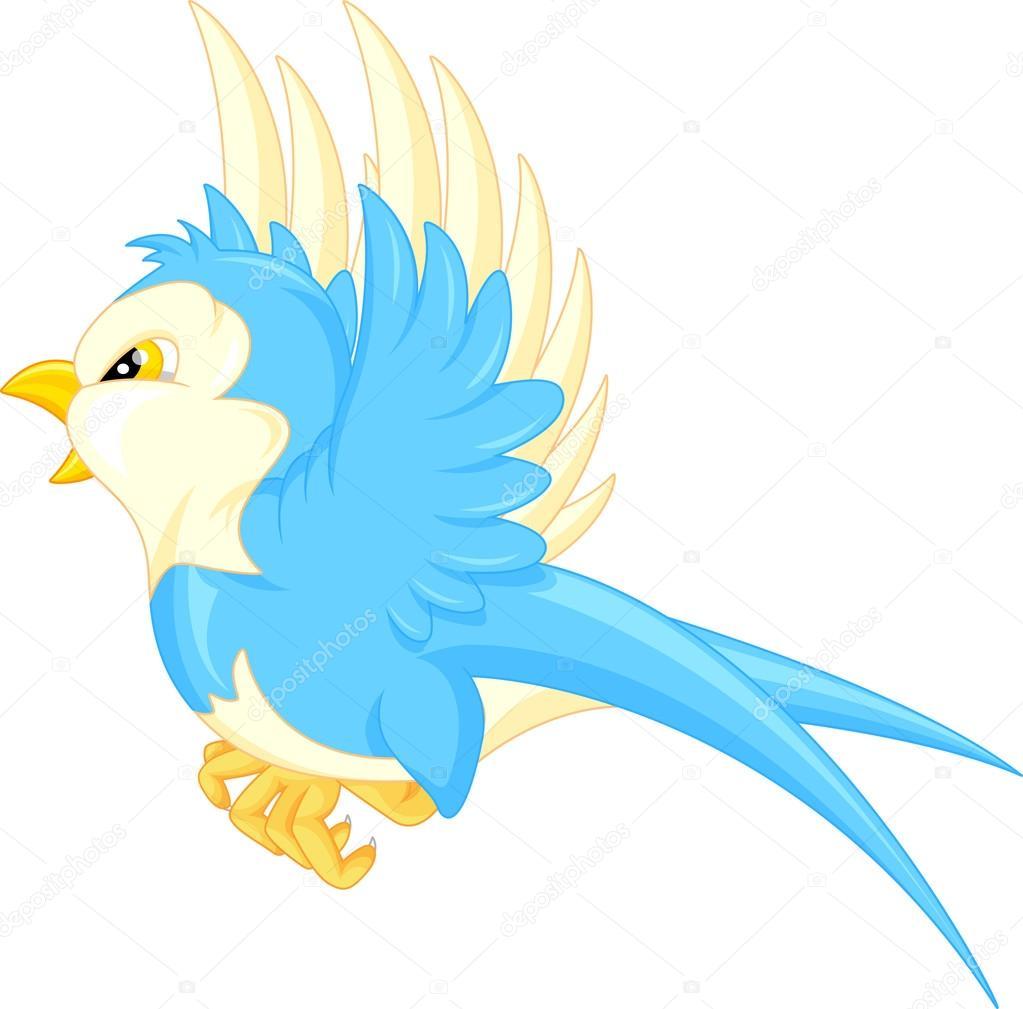Cartone animato di uccello volante — vettoriali stock